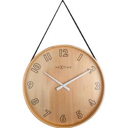 Zegar na ścianę wiszący na taśmie Loop Big Nextime czarny 3234 ZW