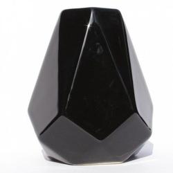 Matero ceramiczne w kształcie kryształu - czarne