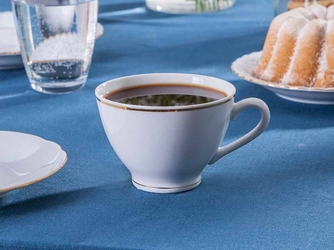 Filiżanka do kawy porcelana ćmielów feston złoty pasek 3604 250 ml