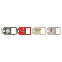 Pasek ozdobny świąteczny 30,5x5,2 cm - tagi - tagi