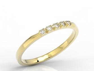 Pierścionek z żółtego złota z diamentami 0,10 ct wzór bp-3510z