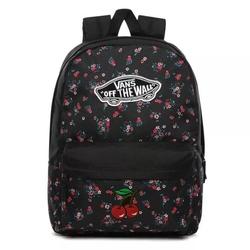 Plecak szkolny vans realm beauty floral black custom cherry - vn0a3ui6zx3