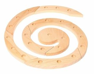 Drewniany Pierścień Urodzinowy, naturalny, Grimms - naturalna