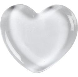 Szklana dekoracja - serce 6,5x6,5 cm - SERC