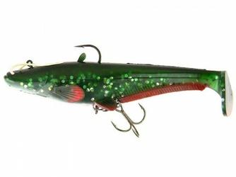 Guma Effzett Real Life Catfish Paddle Tail 200mm 120g Green