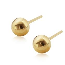 Staviori kolczyki. żółte złoto 0,333. średnica 5 mm.