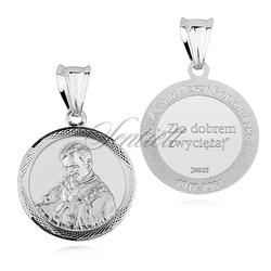 Srebrny medalik pr.925 - błogosławiony ksiądz jerzy popiełuszko