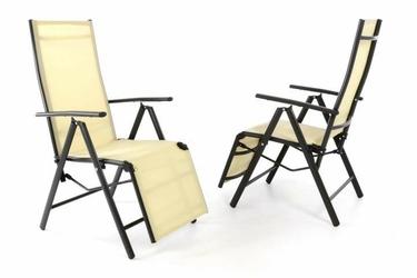 Krzesło ogrodowe 2szt., leżaki z podnóżkiem na taras