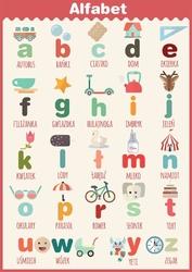 Alfabet - plakat wymiar do wyboru: 70x100 cm