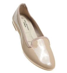 Pantofelek24.pl   wygodne damskie balerinki lordsy beżowe