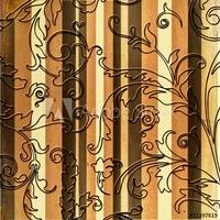 Obraz na płótnie canvas trzyczęściowy tryptyk dekoracyjne tapety w stylu vintage