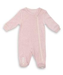Pajacyk dla dziecka - różowy melanż 0 m