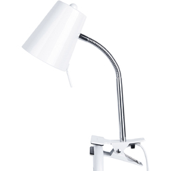 Lampka biurkowa z klipsem do mocowania do blatu Clip On Leitmotiv biała LM1335