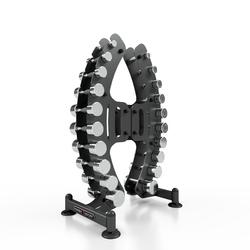 Zestaw hantli chromowanych ze stojakiem 1-10kg mp-s206 - marbo sport