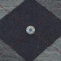 Stylowe szare skarpety burlington edinburgh we wzór argyle w odcieniach szarości rozmiar 40-46