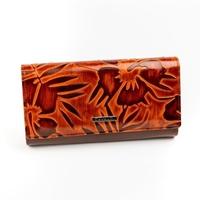 Portfel damski lakierowany brązowy cavaldi pn24 - brązowy