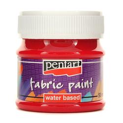 Farba do tkanin Pentart 50 ml - karminowy - KAR