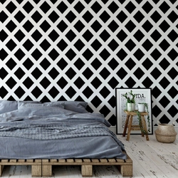 Tapeta na ścianę - modern rhomb , rodzaj - tapeta flizelinowa laminowana