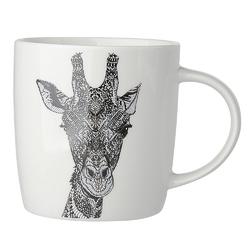 Kubek do kawy i herbaty porcelanowy altom design animal  zwierzęta 300 ml, dekoracja żyrafa