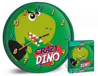 Zegar ścienny dinozaur dinozaury zielony