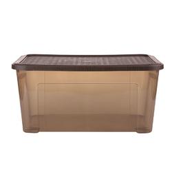 Pojemnik  organizer do przechowywania i na pościel modułowy tontarelli combi box z pokrywką arianna brązowy 43 l
