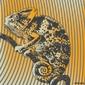 Naklejka samoprzylepna wektorowa ilustracja z kameleonem