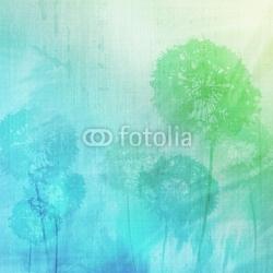 Obraz na płótnie canvas czteroczęściowy tetraptyk tło grunge z mniszek lekarski