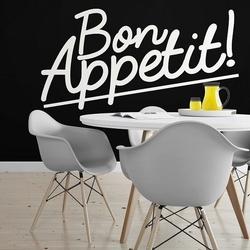 Bon appetit - naklejka ścienna , kolor naklejki - czarna, wymiary naklejki - 160cm x 80cm