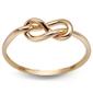 Staviori pierścionek. żółte złoto 0,333. kształt pętelka