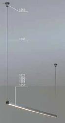 Lampa wisząca pds - o - l z led - 1,5 m - przesłona transparentna