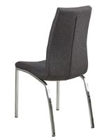 Szare krzesło z tkaniny na chromowanych nogach otaru