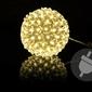 Lampki dekoracyjne kula z kwiatków 50 led kwiatowa bombka joylight