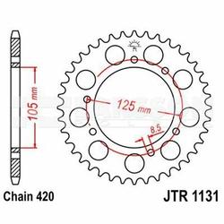 Zębatka tylna stalowa JT R1131-48, 48Z, rozmiar 420 2302472 Aprilia RX 50