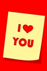 I love you - plakat