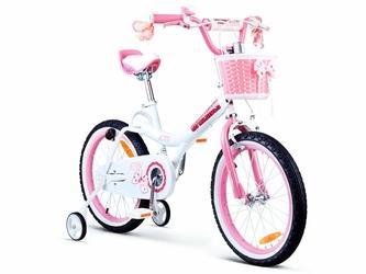 Royal Baby JENNY 16  Różowy Rowerek + Prezent 3D RO0104
