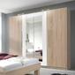 Szafa vera z lustrem w kolorze dąb sonoma jasnybiały