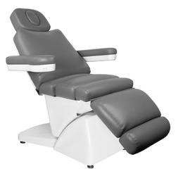 Fotel kosmetyczny elektr. azzurro 878 5 siln. szary