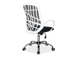 Krzesło biurowe z oparciem z siatki dexter czarnybiały