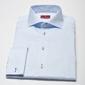 Elegancka błękitna koszula męska van thorn slim fit  z mankietami na spinki 42