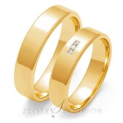 Obrączki ślubne złoty skorpion – wzór au-o101