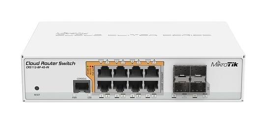 MIKROTIK ROUTERBOARD RTB-CRS112-8P-4S-IN POE - Szybka dostawa lub możliwość odbioru w 39 miastach