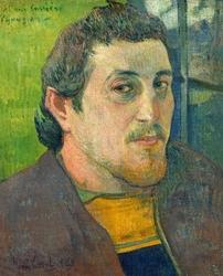 Self-portrait dedicated to carrière, paul gauguin - plakat wymiar do wyboru: 40x60 cm