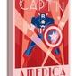 Marvel deco captain america - obraz na płótnie