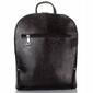 Klasyczny stylowy skórzany plecak damski paolo peruzzi czarny