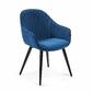 Krzesło HETMAN niebieski aksamit - niebieski