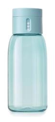 Jj - butelka na wodę 400ml, turkusowa, dot - turkusowy