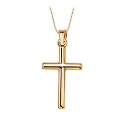 Staviori krzyżyk. żółte złoto 0,333. długość 25 mm.   piękny, prosty złoty krzyżyk, próba 0,333
