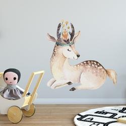 Naklejka na ścianę - forest deer , wymiary naklejki - szer. 60cm x wys. 60cm