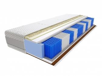 Materac kieszeniowy Anisa Multipocket 120x190 cm Średnio  Bardzo twardy Visco Memory 2x Kokos