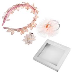 Zestaw do włosów opaska gumka spinka koronkowe kwiaty